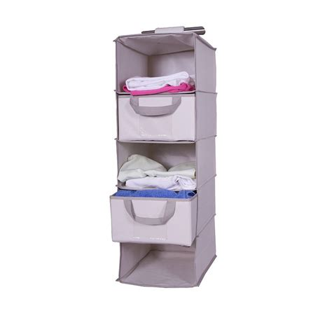 Wardrobe Shelf Organiser oxford hanging 5 shelf wardrobe organiser