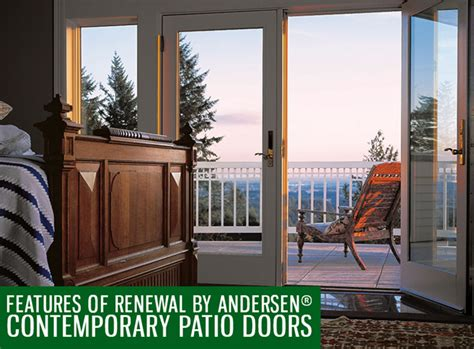 andersen contemporary features of renewal by andersen 174 contemporary patio doors