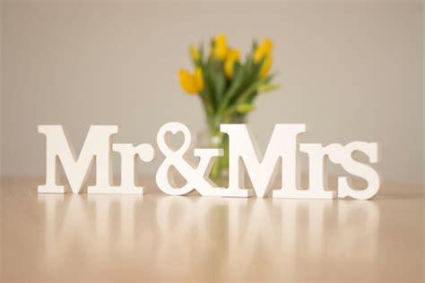 mr mrs sign for wedding table wedding mr mrs sign letter table sign