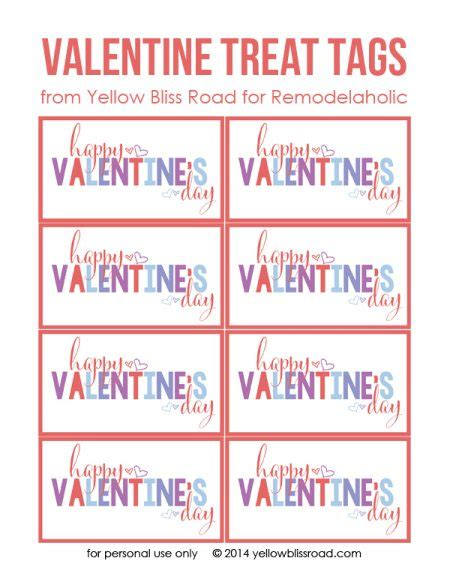 free printable valentine tags remodelaholic 25 sweet treats for valentine s day free