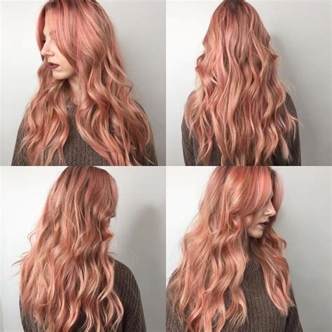 rose gold hair color long hair 722 free hair color pictures