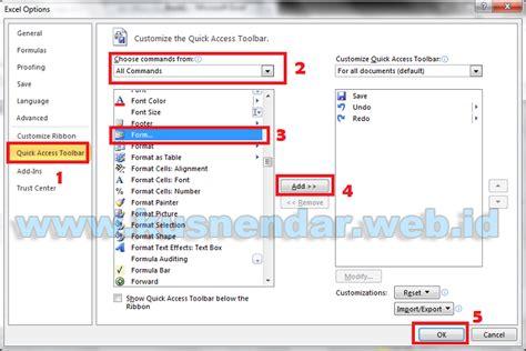 cara membuat form entry di excel cara membuat data entry form di excel tanpa menggunakan macros