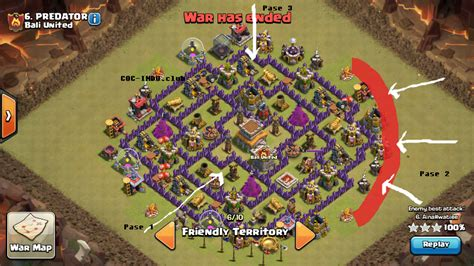 layout coc yang sulit ditembus formasi coc th 8 serangan naga dan balloon raih 3 bintang