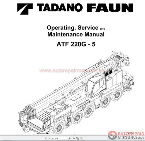 tadano mobile crane full shop manual dvd auto repair manual forum heavy equipment forums