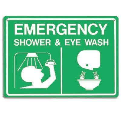 emergency shower eye wash signs 14 quot w x 10 quot h seton