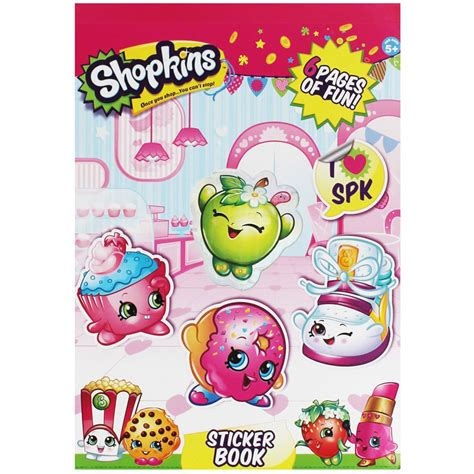 Sticker Book shopkins sticker book sticker books at the works