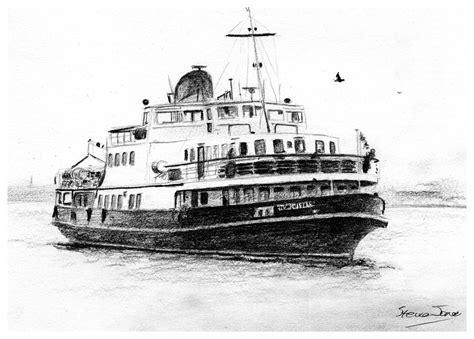 ferry boat liverpool mersey ferry drawing by steve jones