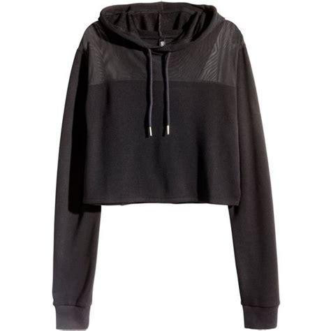 Jaket Crop Hodie Black h m cropped hooded sweatshirt 20 liked on polyvore