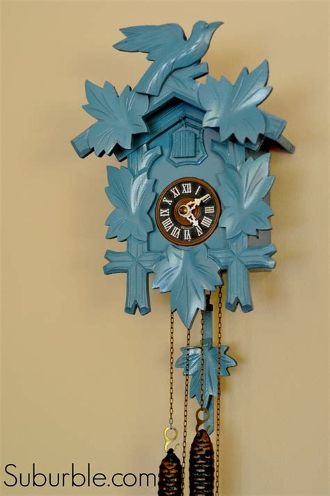 going cuckoo over a clock makeover one artsy mama