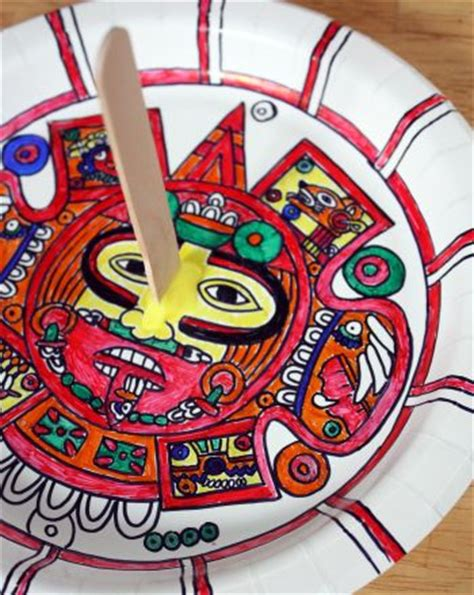 mayan crafts for make an aztec sundial streamers world cultures and