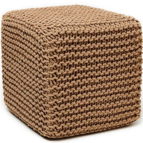 how to make a square pouf ottoman jute pouf cube ottoman in ottomans