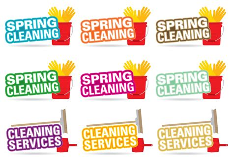 spring cleaners spring cleaning title vectors download free vector art