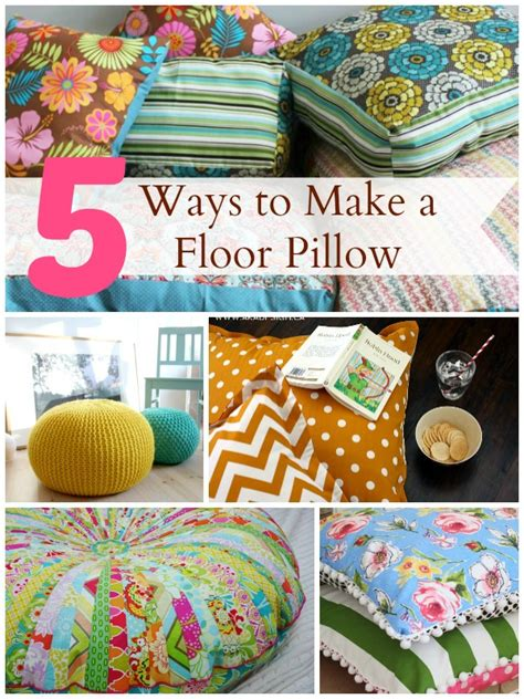 How To Make A Floor Pillow 5 ways to make a floor pillow infarrantly creative