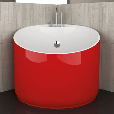 round corner bathtub corner round bathtub mini red ferrari by glass design