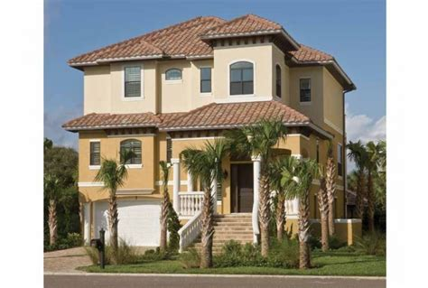 eplans mediterranean house plan three story