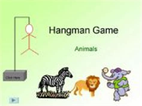 Esl English Powerpoints Hangman Game Animals Hangman Powerpoint