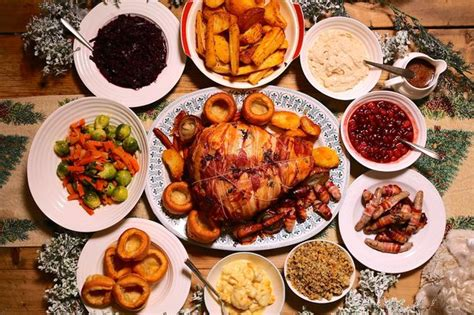 images of christmas feast christmas dinner taste test reveals best value for money