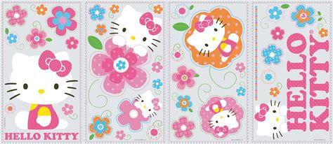 hello kitty wallpaper stickers 39 new hello kitty floral boutique wall decals girls
