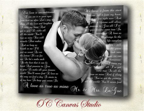 Wedding Song With by Lyrics Canvas Print Your From Occanvasstudio