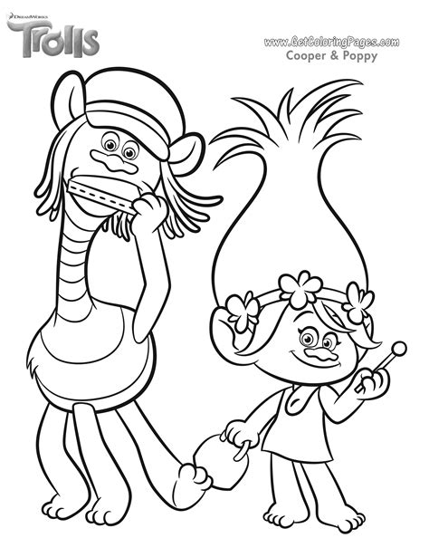 trolls dreamworks coloring sheet coloring pages