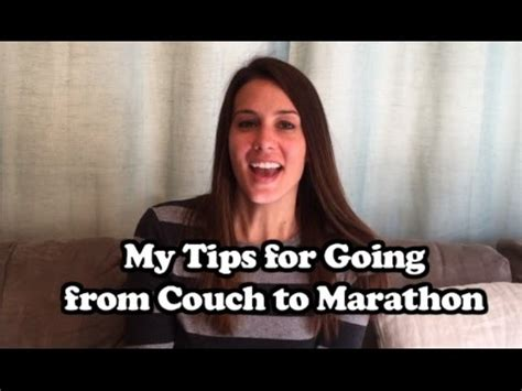 from the couch to a marathon my tips for going from couch to marathon youtube
