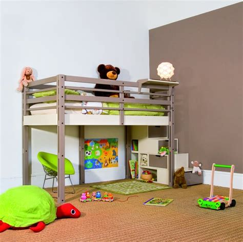 bunk bed with play area underneath loft bed ideas kids will love