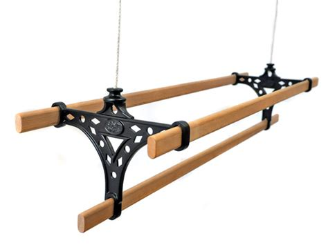 Ceiling Clothes Airer by Ceiling Pulley Clothes Airers 3 Wooden Lath Traditional Clothes Airer