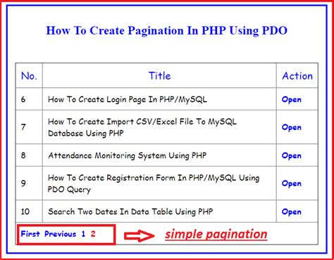 tutorial php pagination how to create pagination in php using pdo free source