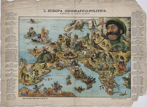 the nineteenth century europe political satire map of europe from the 19th century europe