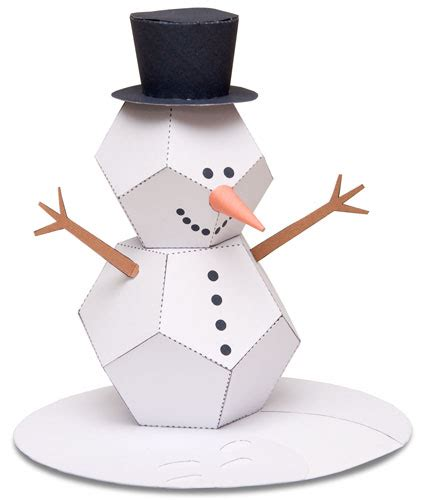 How To Make 3d Snowman Out Of Paper - kardan adam yap箟m箟