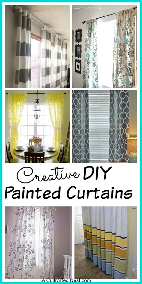 paint curtains diy painted curtains