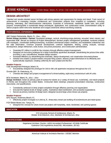 architecture resume objective architecture products image sle architecture resumes
