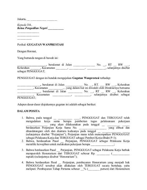 contoh surat kuasa tergugat cerai wisata dan info sumbar