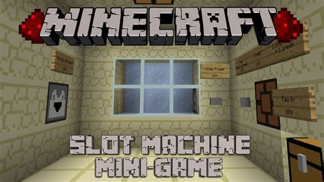 minecraft redstone mini games simple slot machine youtube