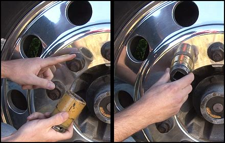 ch one lock spike install lug nut cover guide raney s truck parts