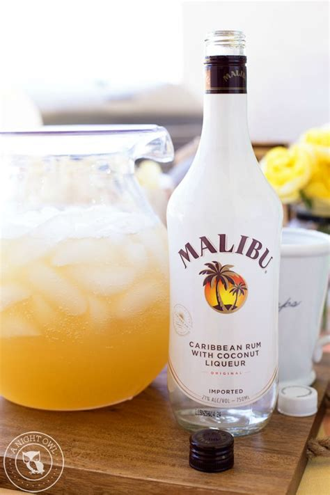 mix with malibu rum pineapple coconut rum drink recipes most delish muffins