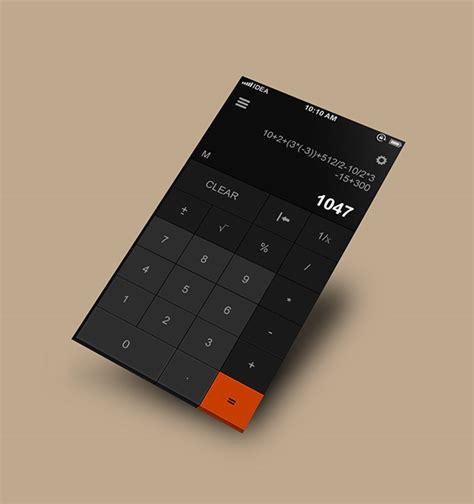 calculator ui calculator flat design on behance