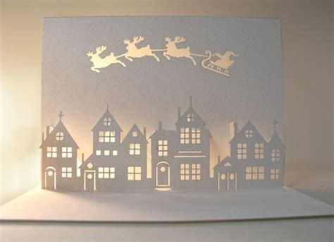 how to make cut out cards paper cut out card beautiful and calm with light