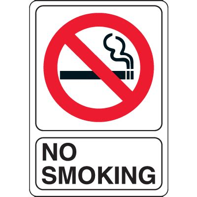 no smoking signs 7 quot x10 quot interior signs seton no smoking signs 7 quot x10 quot interior signs seton