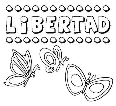 imagenes para dibujar que representen la libertad libertad dibujos de los nombres para colorear pintar e
