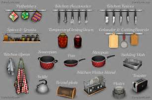 cc finds kitchen decor set the sims 3 by dara