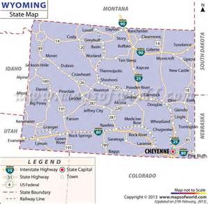 road map of wyoming and colorado map of wyoming vacation planning wyoming
