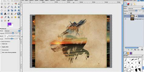 tutorial gimp painting making a watercolour paint photograph in gimp gimp