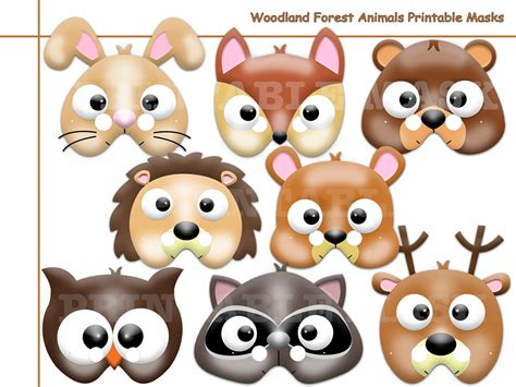 6 best images of free woodland animal mask printables