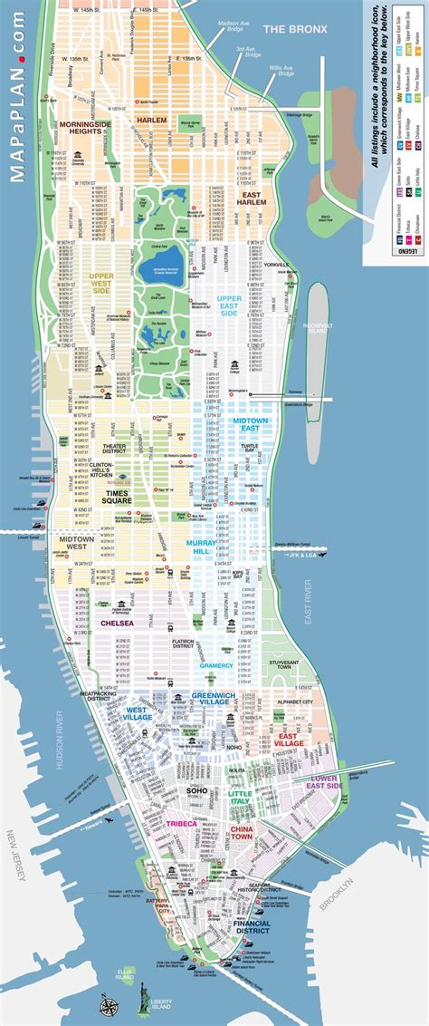 manhattan map of attractions 25 best ideas about manhattan map on map of