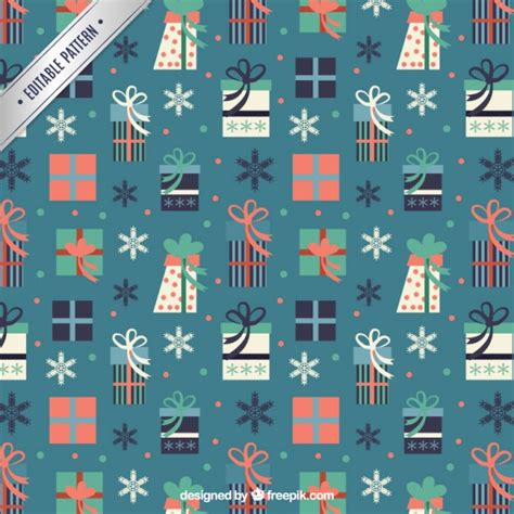 free pattern christmas gifts abstract christmas gifts pattern vector free download