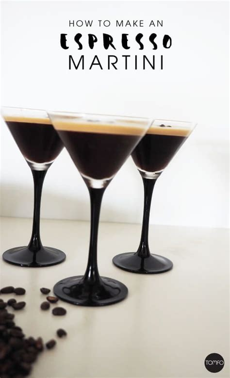 martini coffee how to an espresso coffee martini tomfo cocktail
