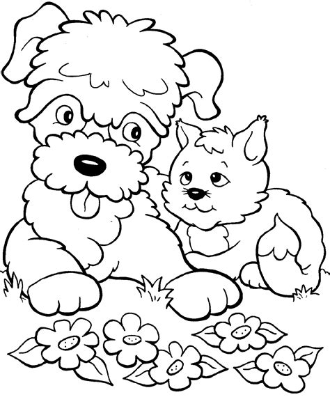 printable coloring pages kittens and puppies kitten coloring pages best coloring pages for kids