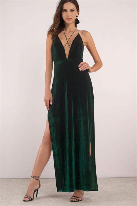 Greeny Maxi Dress maxine velvet maxi dress 26 tobi us