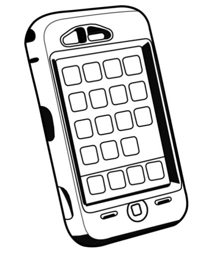 Phone Coloring Page cell phones coloring pages colouring for